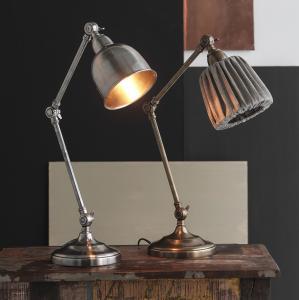 Skrivbordslampa Pauline i silver - bordslampa