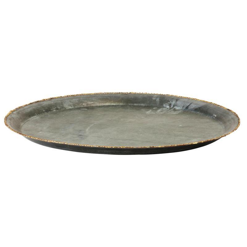 Bricka i metall - plåtbricka med krusad kant