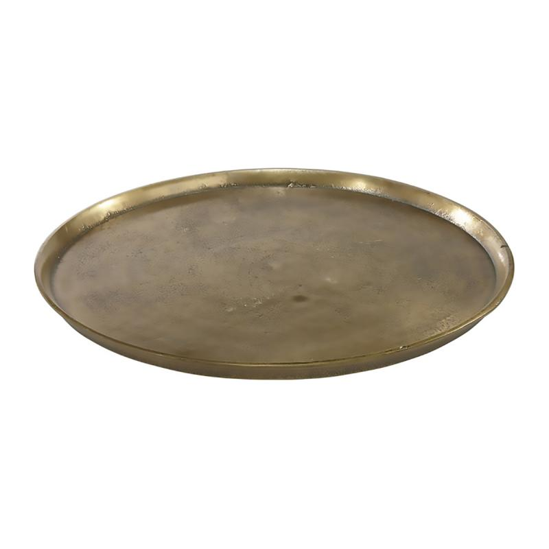 Bricka -  rund metallbricka för dukning och dekoration