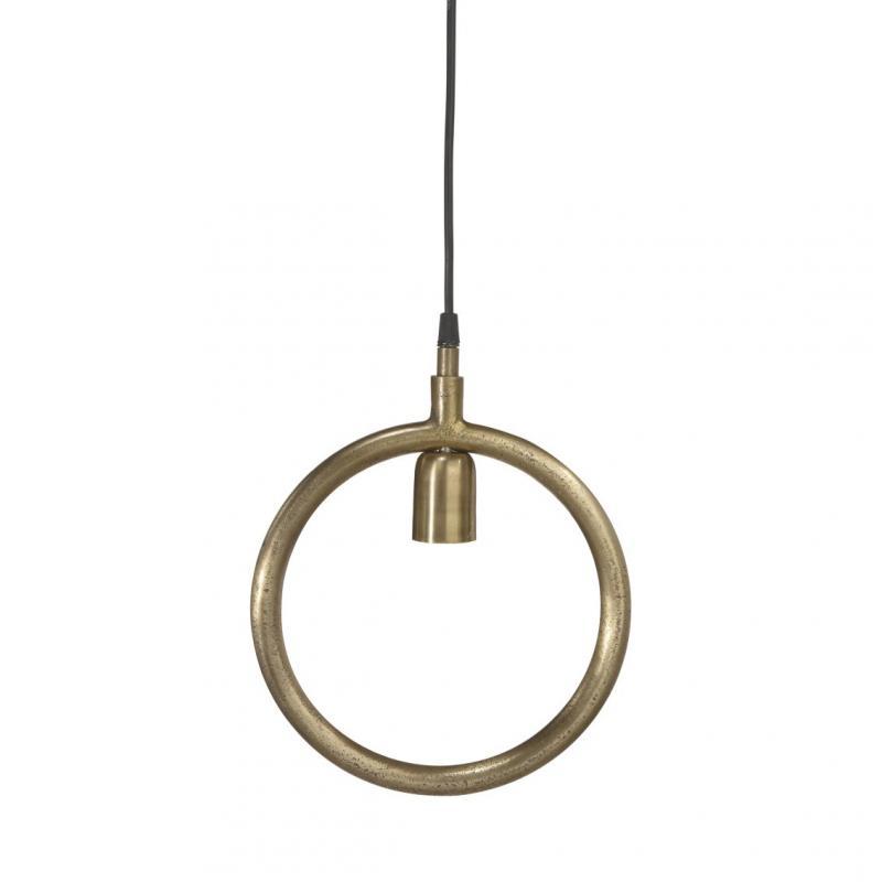 cirkel i metall som en lampa