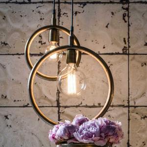Lampa Circle - rund lampa - råmässing