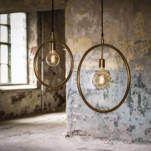 Lampa Circle - rund lampa - guld