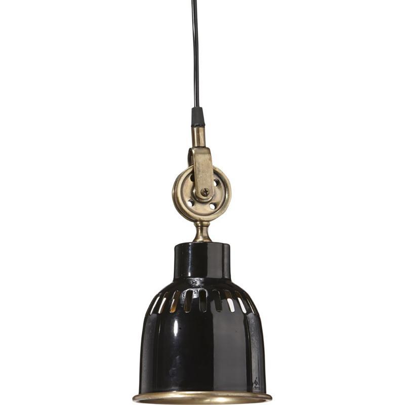svart blank industrilampa – taklampa