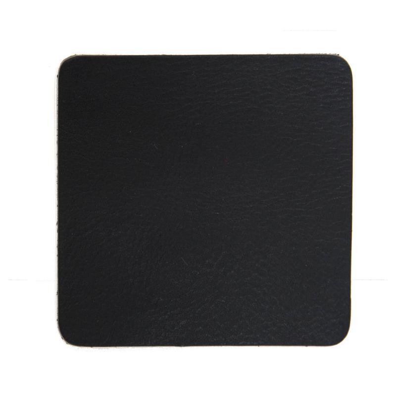 svart handgjort glasunderlägg i buffelskinn
