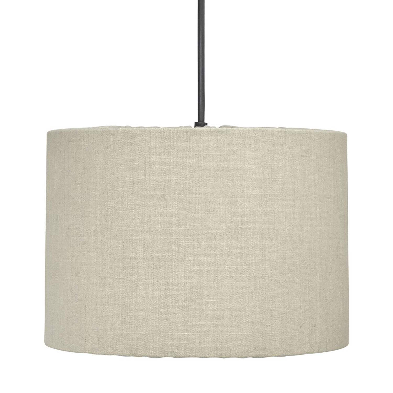 Cylinder taklampa i tyg Klassisk lampa i både form och material