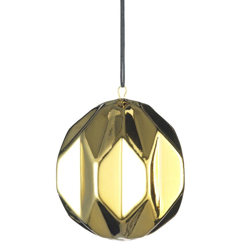 Julgranspynt - Hexagon i guld - julgranskula