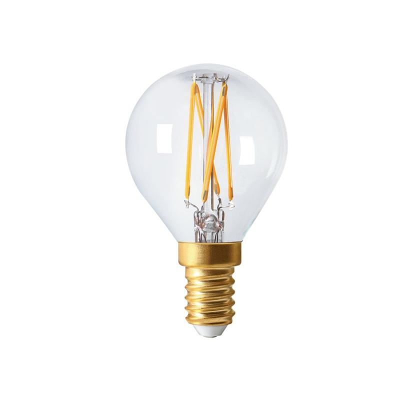 Dimbar Mindre rund LED lampa med smal fattning - E14