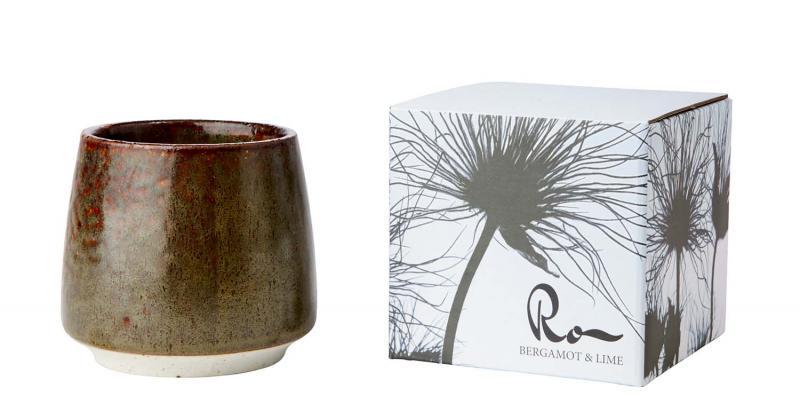 Doftljus i vacker keramikbeållare - ljus med doft