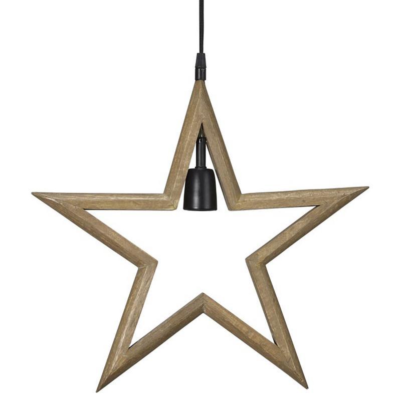 Adventsstjärna PR Home -lantlig  julstjärna i trä - Farm Star 45 cm