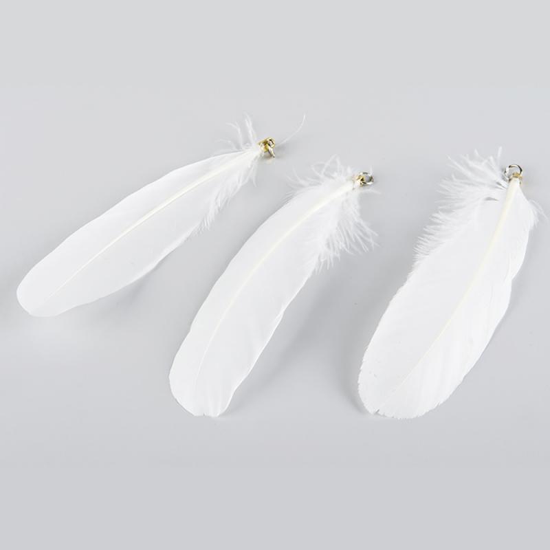 Fjäder för påsk & paket - vit