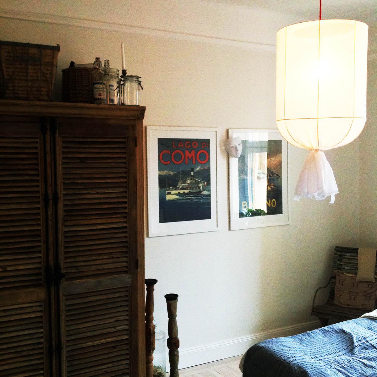 Stor skira lampa, taklampa tyglampa pr home sovrum
