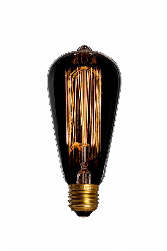 GLÖDTRÅDSLAMPA 40W - lyktlampa Edison Cage