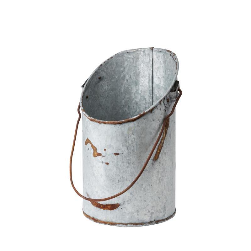 Planteringskärl - hink i zink - zinkbytta med handtag