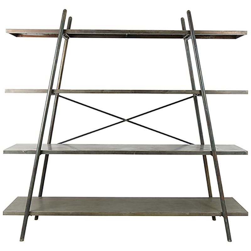 Hylla William i metall - bokhylla i industristil