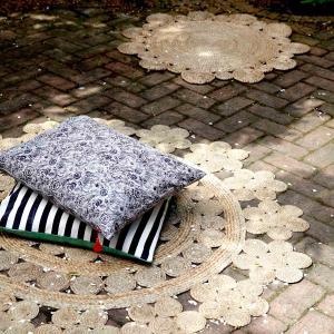 Jutematta - rund matta i naturmaterialet jute