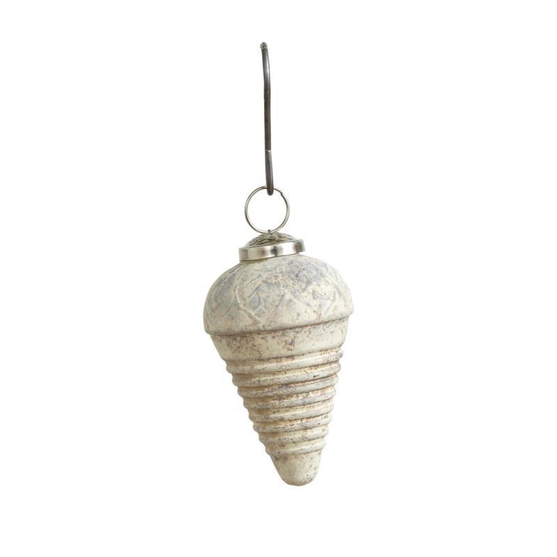 10 st Julkula - julgranskula - beige  kula i glas