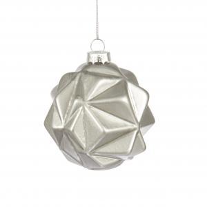 Julkula - julgranskula i glas - julpynt i sliver