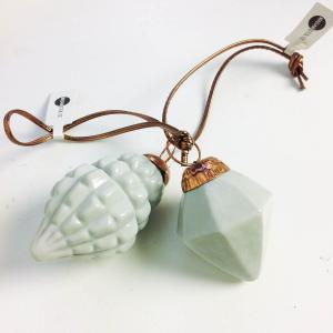 Julkula i porslin - julgranskula diamant