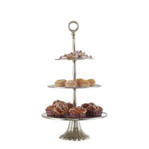 Kakfat i rustik metall - våningsfat för smart servering