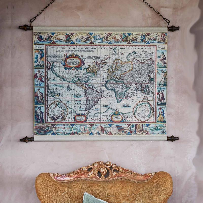 Karta - tavla i gammeldags stil