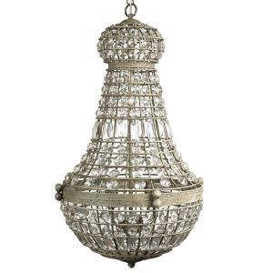 Underbar takkrona med prismor - modern kristallkrona