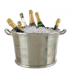Vinkylare - ishink & champagnekylare i grov rustik aluminium