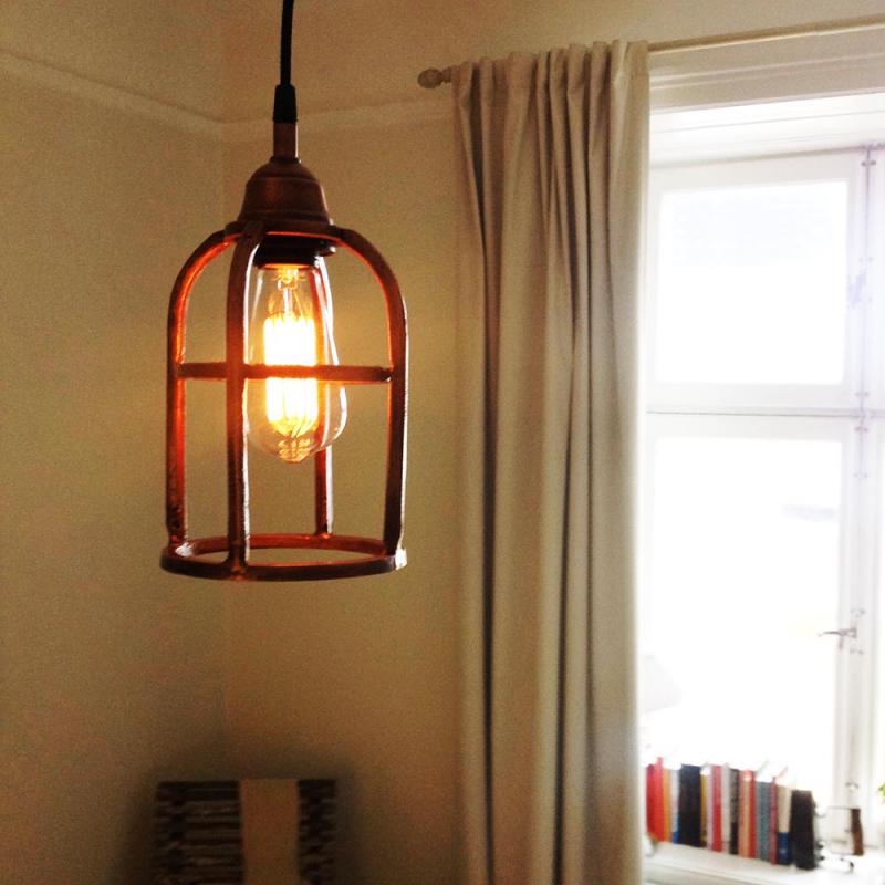 PR Home Boston gallerlampa i koppar - ruff & grov i ytan
