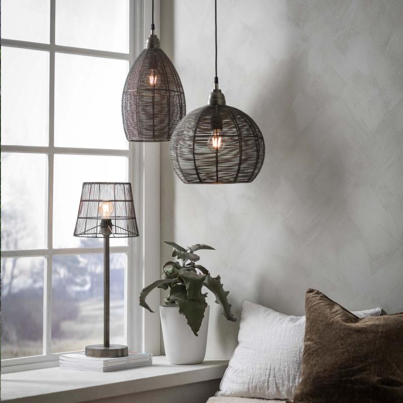Mia Nordic lampskärm - gallerlampa i industristil