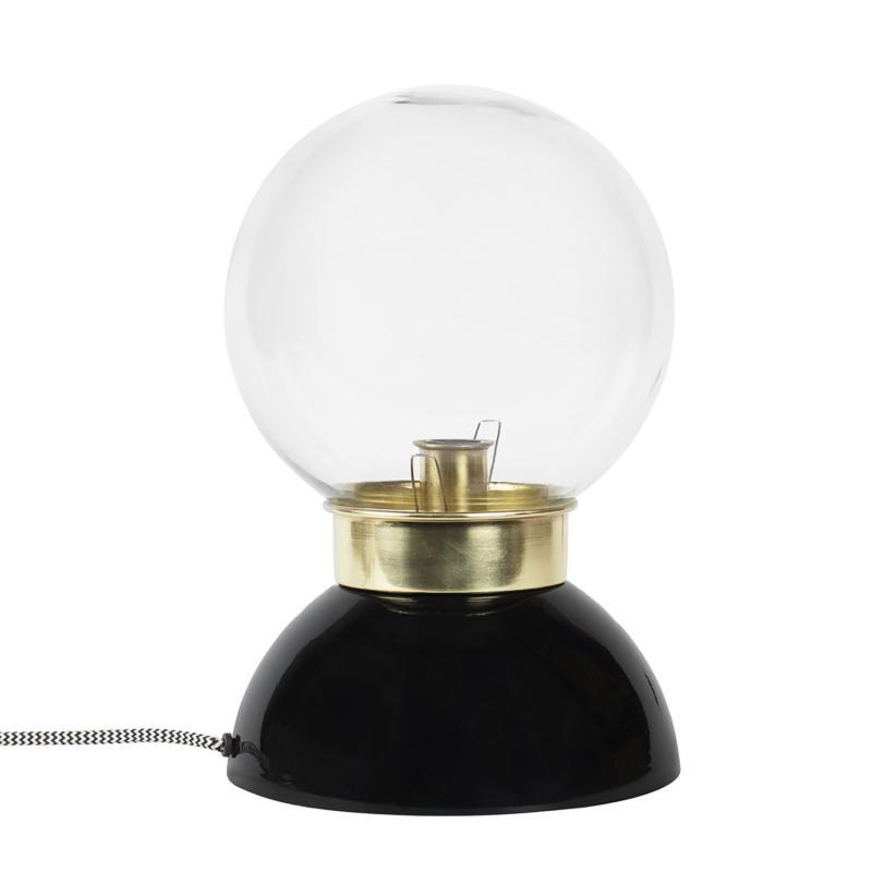 Bordslampa i metall och glas
