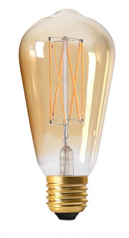 Dimbar skönt tonad  LED lampa  - Edison Gold
