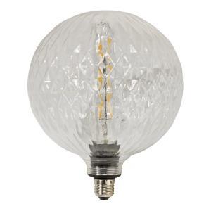 Fasettmönstrad Led-lampa Globe Cristal - hela 20 cm