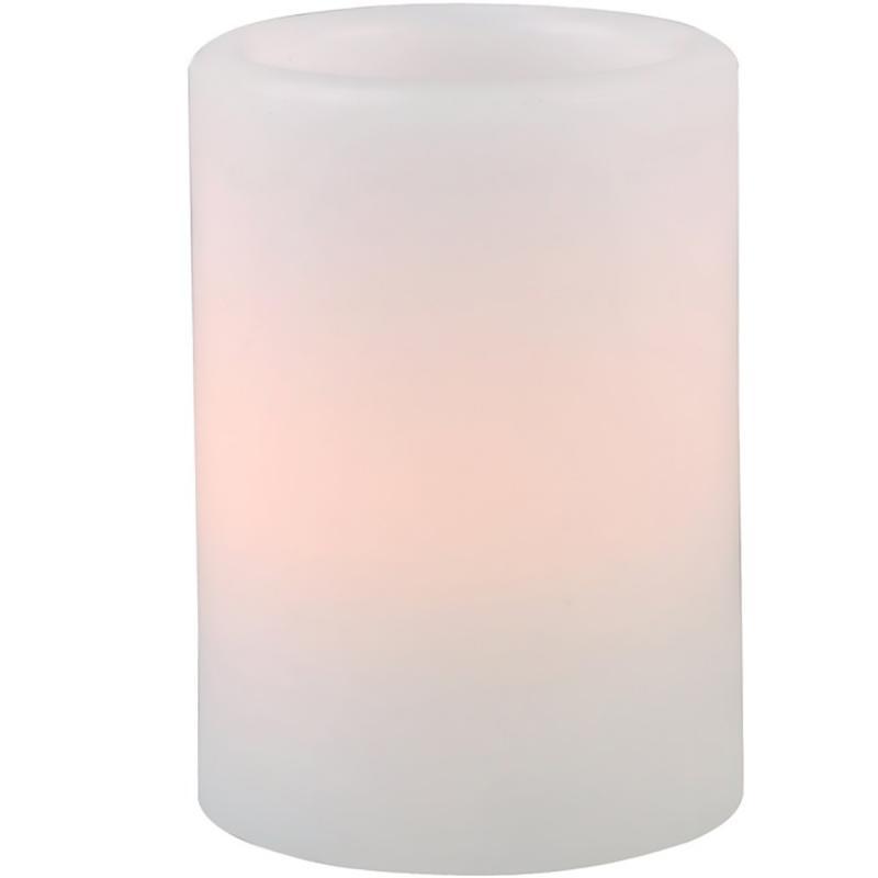 Ledljus - brandsäkert vaxat blockljus med LED-lampa