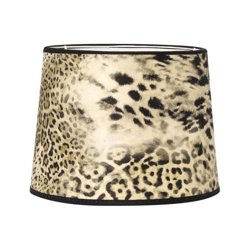 Leopardskärm - tuff lampskärm i leopardmönster