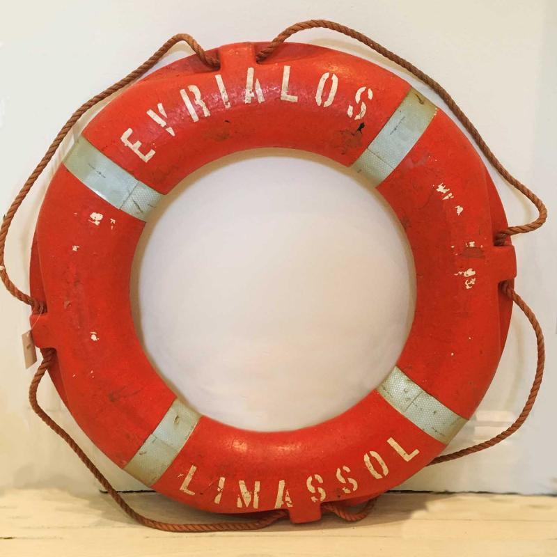 begagnad vintage livboj sjöräddningen