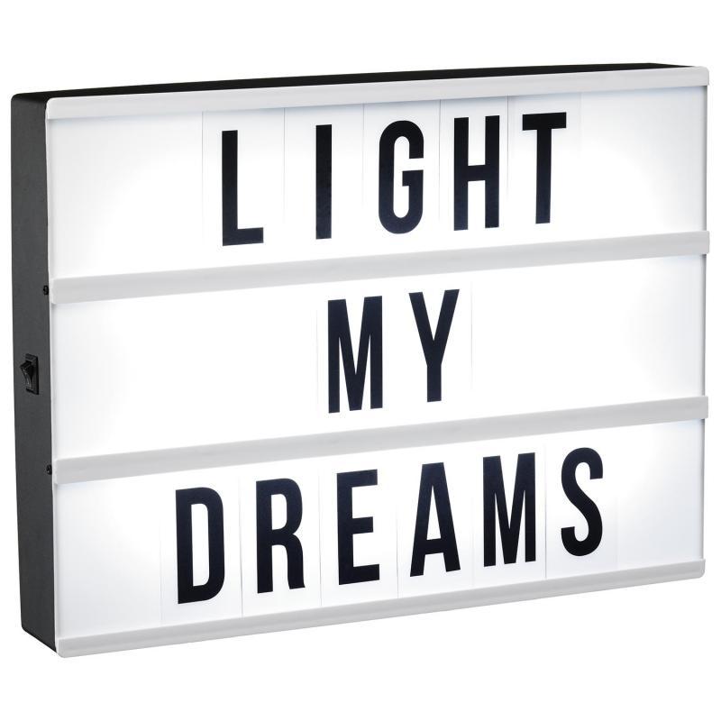 Ljuslåda - ljusbox - LED med bokstäver