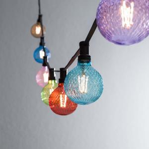 Ljusslinga  för utomhusbruk med vackra  fasetterade lampor