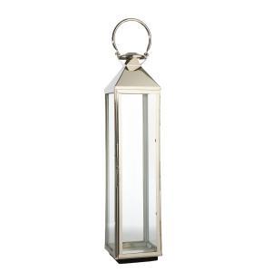Hög lykta - lanterna i glas och rostfritt