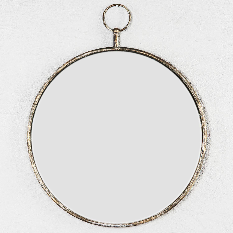 rund spegel svart ram