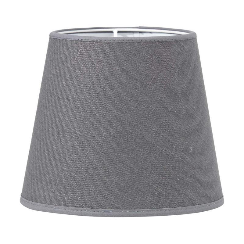 Mia lampskärm i grått lin - lampskärm i linne