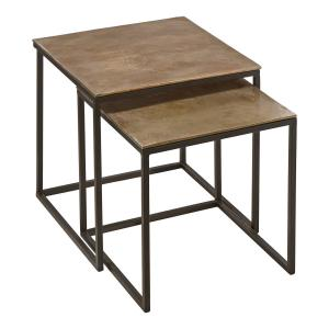 Satsbord Miramar - rustika bord i metall i rå stil