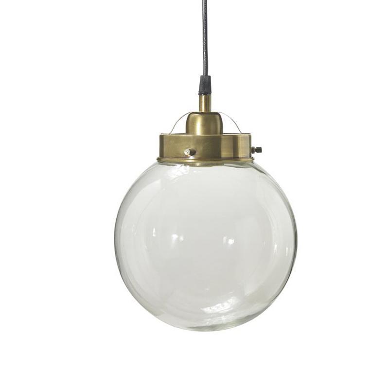 Normandy (Bretagne)  - glaslampa - 20 cm - antikmässing