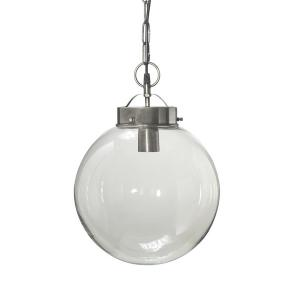 Normandy (Bretagne) taklampa i glas - 30 cm - antiksilver PR Home