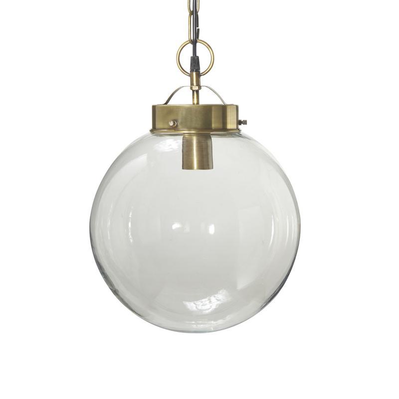 Normandy (Bretagne) taklampa i glas - 30 cm - antikmässing - PR Home