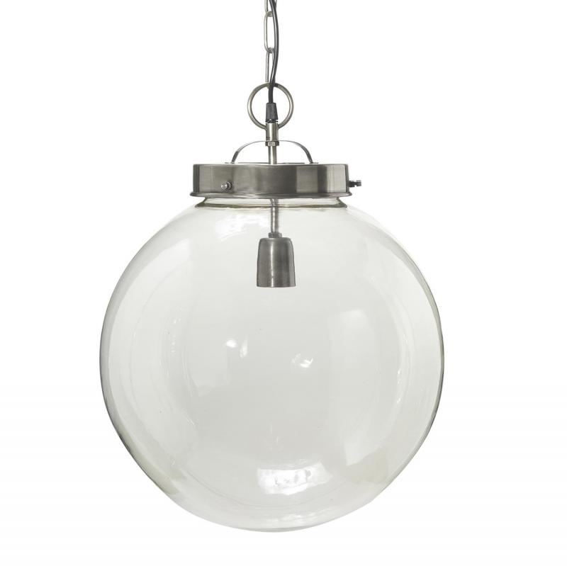 Normandy (Bretagne)  taklampa i glas - 40 cm - antiksilver - PR Home