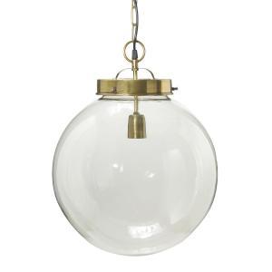 Normandy (Bretagne)  taklampa i glas - 40 cm - antikmässing- PR Home