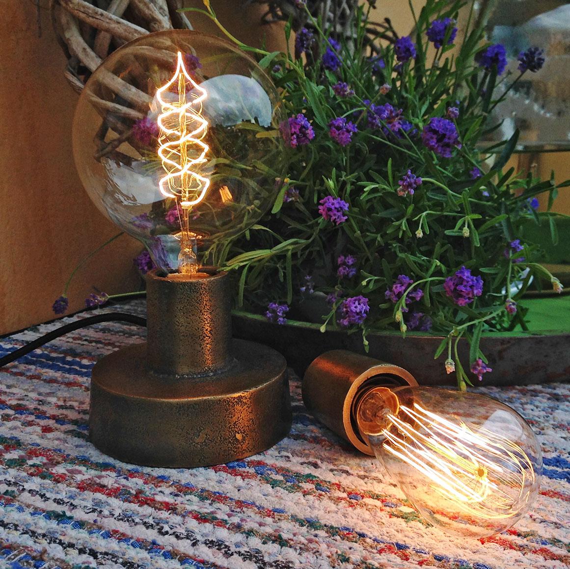 Industrilampa notice lampfot / lampa mÄssing pr home