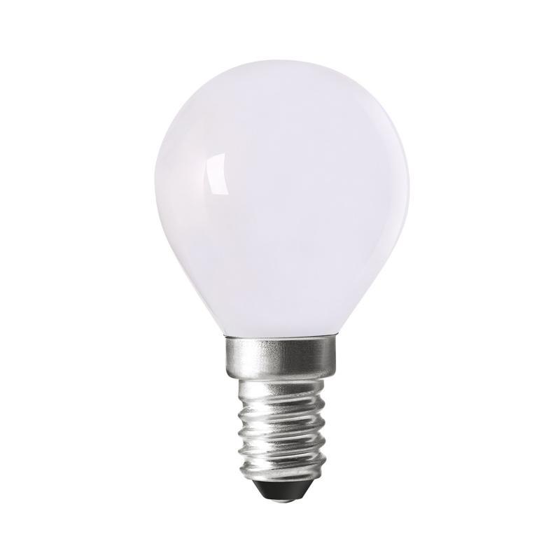 Opal Led-lampa med smal fattning E14