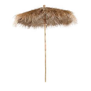Charmigt stort parasoll av gräs och bambu