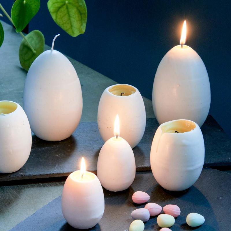 Ljus till påsk - äggljus med veke & gula