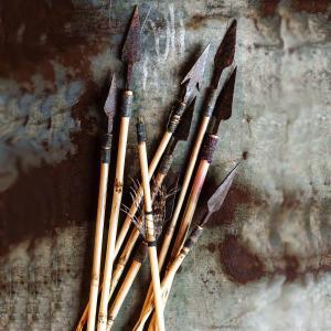Pil i bambu  - dekorera på jakttema